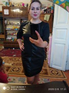 Moteriška vintažinė odinė elegantiška mini suknelė photo review
