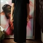 Maxi juoda laisvalaikio suknelė photo review