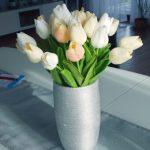 Aukštos kokybės dirbtinių gėlių puokštė (10 vnt. tulpių) photo review