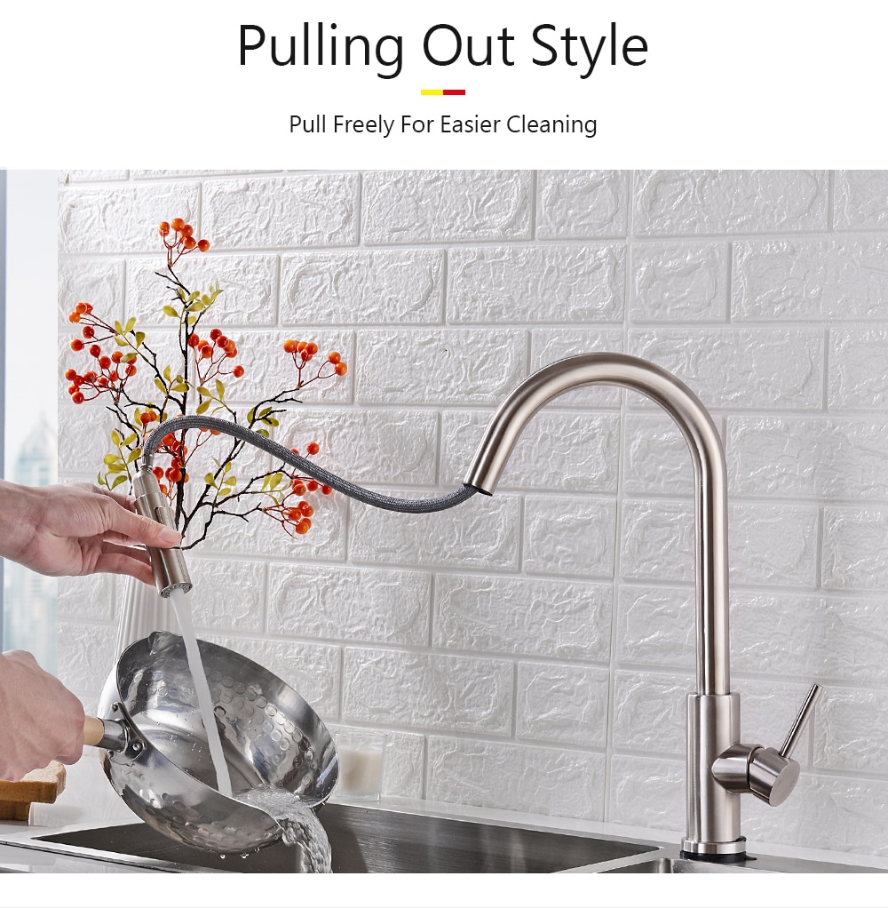 Pull Out Black Sensor Kitchen Faucets Stainless Steel Smart Induction Mixed Tap Touch Control Sink Tap Torneira De Cozinha 15