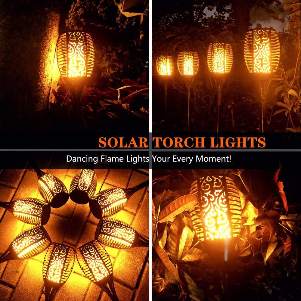 96 Leds Waterproof Flickering Flame Solar Torch Light Garden Christmas Decoration Lamp Outdoor Led Solar Lamp Landscape Light 5
