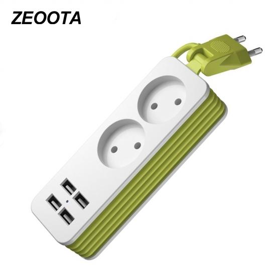 """Power Strip"" prailgintuvas 1200W 250V, 1,5 m, su 4 USB jungtimis"