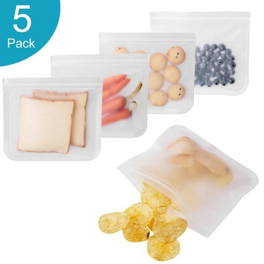 Silikoniniai maisto laikymo krepšeliai (5 vnt.)
